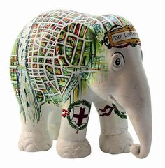 Elephant Parade 10cm Old Map Of London