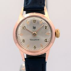 1980's LIP Ladies Dauphine Rose Gold Filled Watch