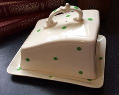 Lovely Art Deco Style Cream and Green by florenceforeverfinds