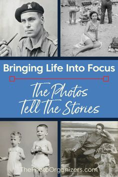 Learning the stories behind your family photos can bring your life and your family history into sharper focus. #tellyourstory   ThePhotoOrganizers.com