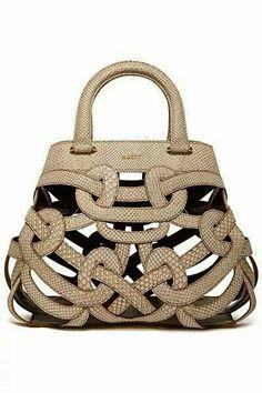 GABRIELLE'S AMAZING FANTASY CLOSET | Bally Sand Perforated Handbag