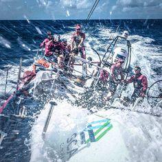 Leg 6 to Newport. Day 8. @team_sca enjoying great sailing conditions in the Atlantic Ocean. Photo by Corinna Halloran/Team SCA #volvooceanrace #sailing #atlantic