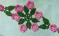 Ravelry: Wild Rose Scroll Motif #P-305 pattern by The Spool Cotton Company