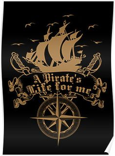 A Pirate's life for me-Pirates Wall Tapestry by Augustinet Pirate Signs, Pirate Art, Pirate Life, Pirate Quotes, Vikings, Pirate Tattoo, Medieval, Pirate Treasure, Black Sails