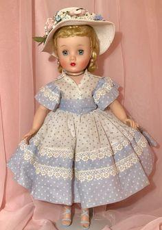 Old Dolls, Antique Dolls, Vintage Dolls, Vintage Items, Church Clothes, Church Outfits, Fifties Fashion, Fashion Dolls, Pale Blue Shoes
