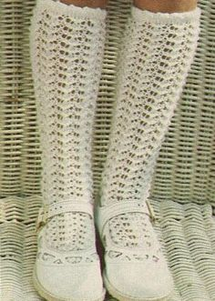 """I remember having white """"holy"""" knee socks like these except out of nylon material not """"yarn-like"""""""