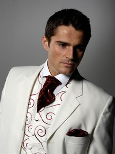White Mens Wedding Suits