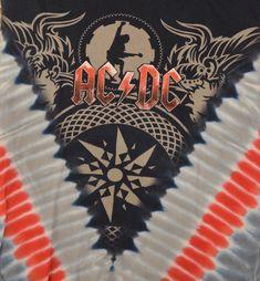 Tie-Dye AC/DC 2008-09 Black Ice World Tour Concert Tee shirt Adult Medium #Unbranded #GraphicTee