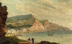 Sidmouth from Chit Rock    from A new guide descriptive of the beauties of Sidmouth    by Rev Edmund Butcher (1830)