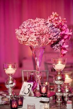 Centro de mesa para #boda encantan las #hortensias!