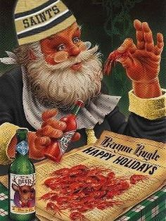 South Louisiana Cuisine: A Cajun Christmas, Heaux, Heaux, Heaux Santa Christmas, All Things Christmas, Vintage Christmas, Christmas Holidays, Happy Holidays, Southern Christmas, Christmas Ideas, Holiday Ideas, Christmas Images