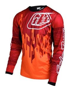 Troy Lee Designs 2017 Sprint Bike Jersey Code Orange Mens Size XL a543acdfc