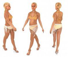 Girl in bikini 3d model