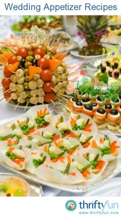 This page contains wedding appetizer recipes. Planning the menu for your wedding reception will often include some type of appetizers.