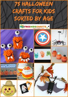 75 Halloween Crafts for Kids Sorted by Age | This collection of Halloween crafts will give your kids plenty to do this October!