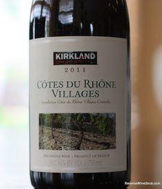 Kirkland Signature Cotes du Rhone Villages 2011 - A Whole Lot of Complexity For $7. Costco delivers another excellent Kirkland Signature wine. BULK BUY! http://www.reversewinesnob.com/2013/07/kirkland-signature-cotes-du-rhone-villages.html #winelover