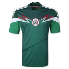 7c32c1299f8 adidas Youth Mexico 14 Home Jersey Vivid Green Dark Green