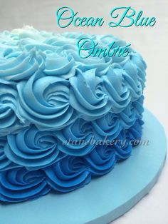 Ombré Cake for baby shower or birthday party