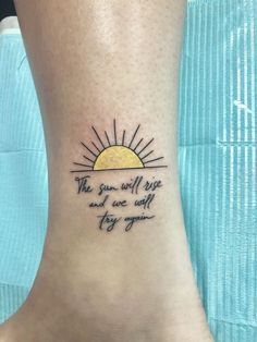 Twenty One Pilots Tattoo. The sun will rise and we will try again Twenty One Pilots Tattoo. The sun will rise and we will try again Sunrise Tattoo, Sunset Tattoos, Up Tattoos, Sister Tattoos, Little Tattoos, Body Art Tattoos, Sleeve Tattoos, Celtic Tattoos, Future Tattoos