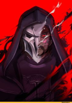 Blizzard,Blizzard Entertainment,фэндомы,Reaper (Overwatch),Overwatch,Overwatch art