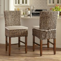 Birch Lane Woven Seagrass Stools