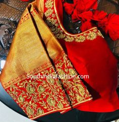 Hand Embroidered Blouse Designs For Traditional Sarees by Deepthi Balagiri – South India Fashion maggam blouse patterns for silk sarees Wedding Saree Blouse Designs, Pattu Saree Blouse Designs, Saree Blouse Patterns, Fancy Blouse Designs, Designer Blouse Patterns, Blouse Neck Designs, Pattern Blouses For Sarees, Silk Blouses, Blouse Designs Embroidery