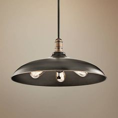 This three-light pendant from the Cobson collection has a chic look inspired by barn style lighting fixtures.