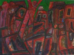 """Abstract Township"" by Sipho Msimango Contemporary African Art, Art Pieces, Abstract, Painting, Summary, Artworks, Painting Art, Art Work, Paintings"