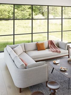 Shop the Emmy Collection by Egg Collective at Design Within Reach. Design Furniture, Sofa Design, Modern Furniture, Corner Sectional, Sectional Sofa, Couches, Diy Ikea Hacks, Cozy Sofa, Design Living Room