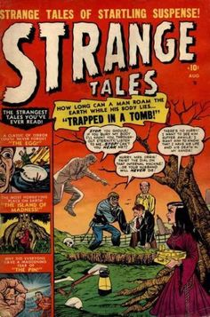 A cover gallery for the comic book Strange Tales Marvel Heroes, Marvel Comics, Comic Book Covers, Comic Books, Marvel Masterworks, Tales Of Suspense, Tales From The Crypt, Horror Comics, Scary Comics
