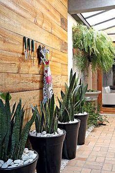 Image result for jardim pequeno de canto de muro