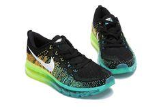 Nike Air Max Flyknit Black Fluorescent Green