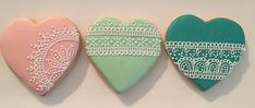 Lace Heart Royal Icing Sugar Cookies by @cookiesbykatewi #wedding #bridal #shower