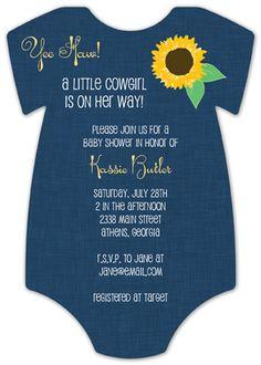 25 best onesie invitations images on pinterest shower invitation cowgirl cutie onesie invitation solutioingenieria Choice Image