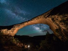 Snuggle under the stars at Natural Bridges National Monument, Utah.