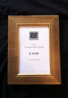4 x 6 Custom Picture Frame  Distressed Gold by Gallery293 on Etsy, $19.99