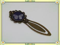 Marque-pages, Marque-pages Papillon noir beige bronze est une création orginale de lydeedeco sur DaWanda