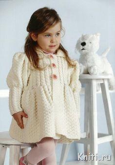 Пальто для маленькой модницы — Мир вязания и рукоделия