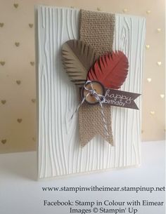 love the feathers done with the STampin' Up! fringe scissors