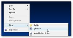 Create Shutdown Icon for Windows 7