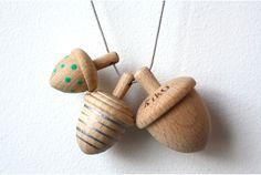 mondaysmilk acorn necklace