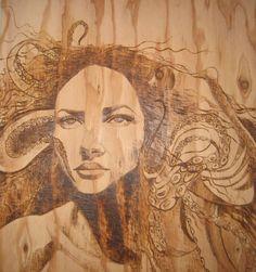 Alexandra Bowers, woodburning