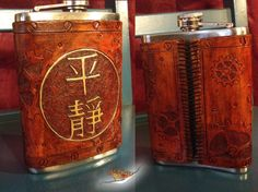 Steampunk Serenity Leather Flask Cover - The Steampunk Empire