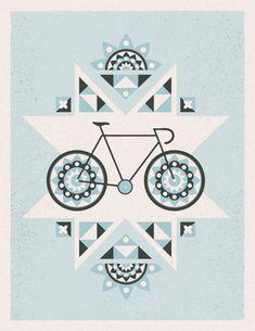 geometric blue bike