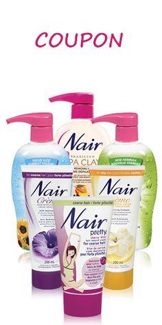 Coupon pour les crèmes Nair.  http://rienquedugratuit.ca/coupons/coupon-pour-les-cremes-nair/