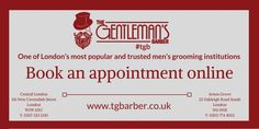 Book an appointment online at #TGB!  http://wu.to/x35nsF #London #BarberShop