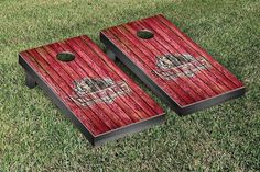 Indiana Kokomo Cougars Weathered Wood w/ Logo Cornhole Board & Bag Set
