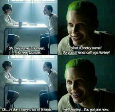 Harleen Quinzel and Joker from Suicide Squad. Harley Quinn