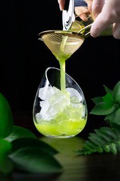 Poitín Basil Honey Smash - Moody Mixologist Green Cocktails, Craft Cocktails, Pot Still, Acquired Taste, Honey Syrup, Malted Barley, Kettle Corn, Ripe Fruit