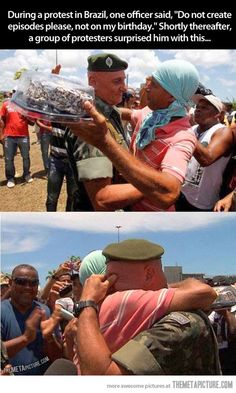 Protesters with a good heart… good people